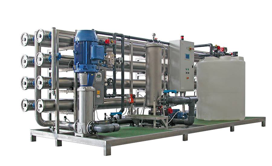 Reverse Osmosis system for primary water purification, flow rate 50 m3/h